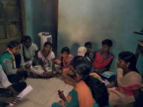 Children during their meeting