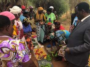 Women selling their produce