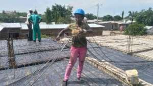 November -- Woman worker preparing the slab