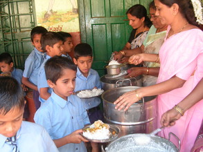 Hot nutritious meals being served