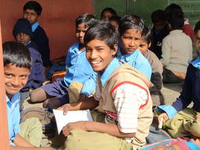 AP beneficiaries studying in outdoor classroom