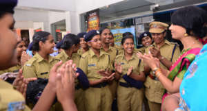 Interacting with the Kerala Police Cadet