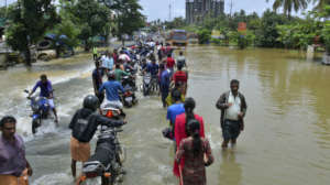 People waddling through the devastating Floods!