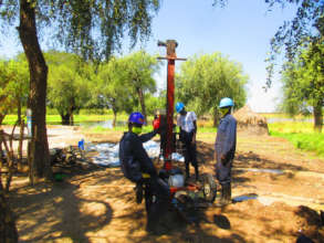 Drilling a new borehole.
