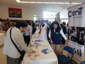 Recruiting volunteers at the university