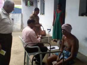 Physically challenged getting homeo treatment