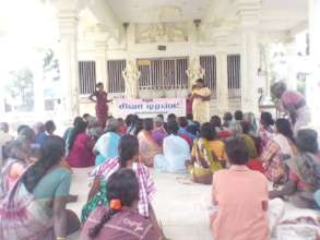 Awareness meeting in a village