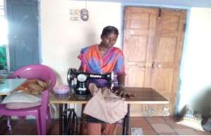 Disabled girl admitted to tailoring training