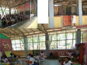 Monkey-proof grille, Kalawelgala Elementary