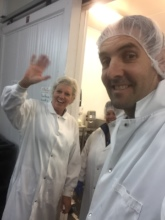 Touring food plants with Caroline in Quebec