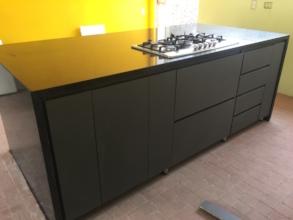 Kitchen island storage side