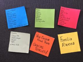Recipes and thank you note from Rivera family
