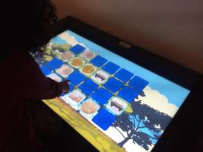 The interactive educational display.