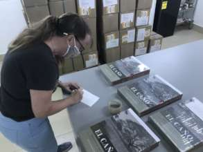 Preparing sold books for shipping
