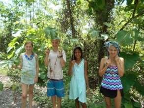 Kids at KSTRs Reforestation Project