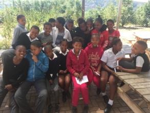 Grade 5 children at De Mistkraal Primary School