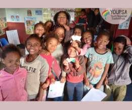 a group of YOUPSA afterschool programme children