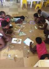 Being creative - making cardboard art