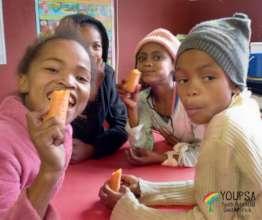 enjoying sweet and crisp carrots