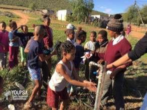 washing hands before we begin other activities
