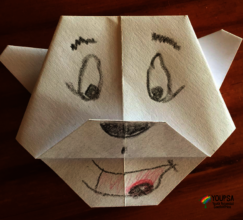 Origami made from home with WhatsApp instructions2