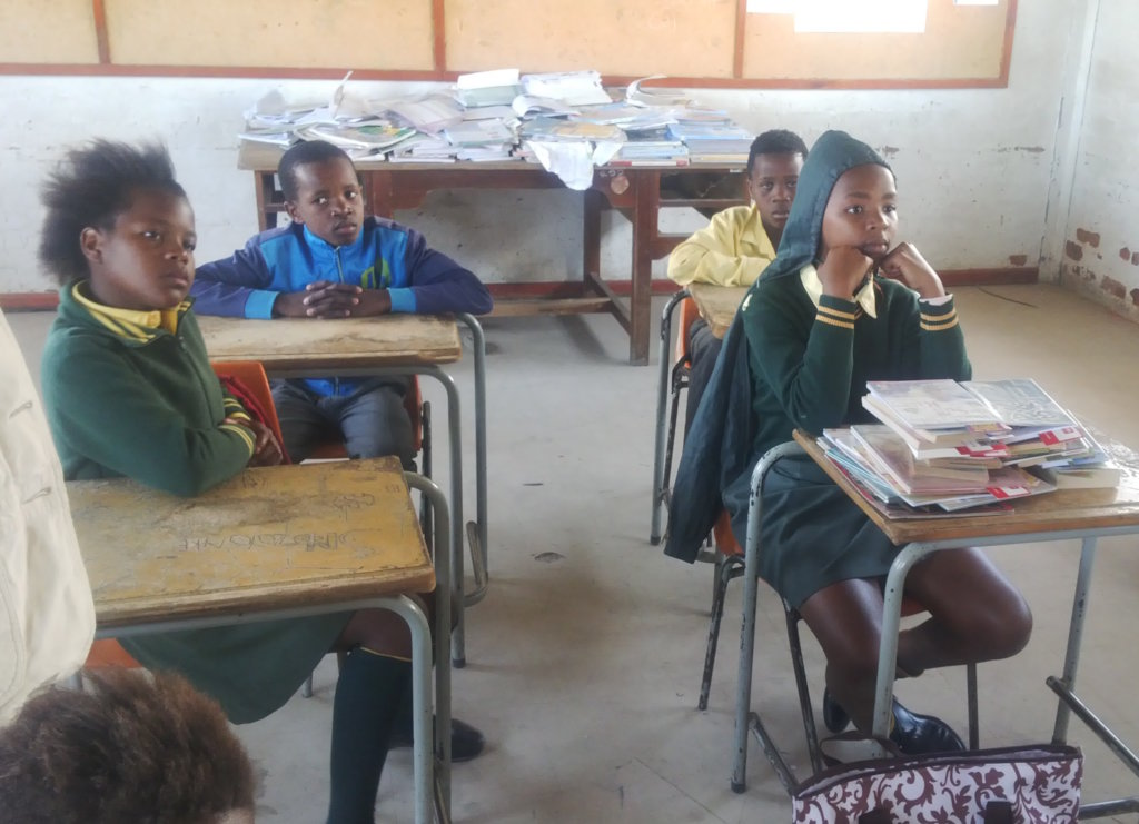 Support a class of at-risk South African children