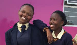 happy high school kids