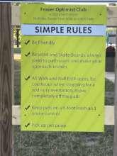 Park Etiquette Sign