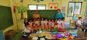 Cabalitocan Daycare with new school materials