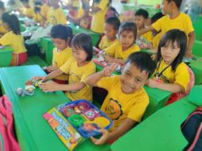 Young students in La Union with educational toys