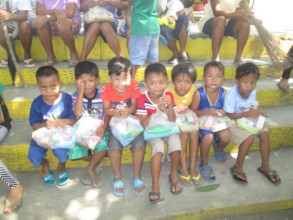 Cabalitocan Daycare Learners with Hygiene Kits
