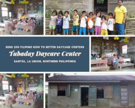 The Tubaday Daycare Center and its students