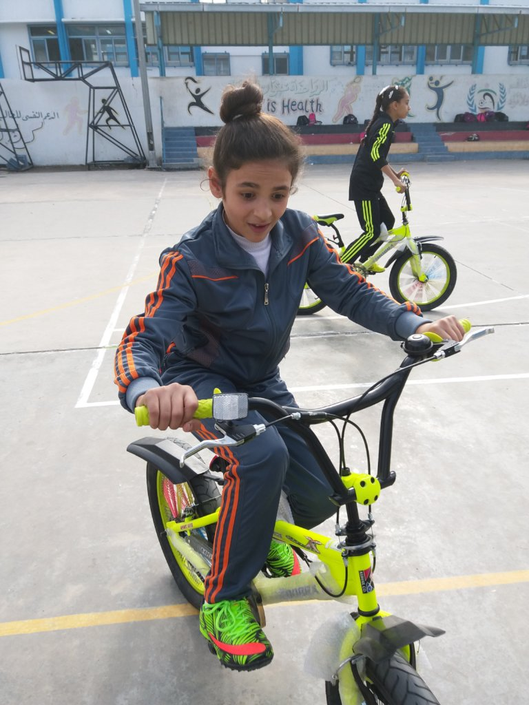 Sports for Girls in Gaza: The Big Ride 2018