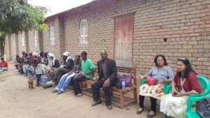 Meeting at Mbando village