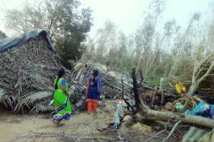 Gaja victims in Pudukottai