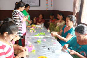 Women engaging in therapeutic activity