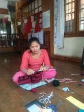 Kalpana Pariyar practicing income generation skill