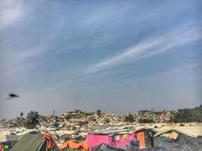 Temporary Rohingya Habitats at Teknaf, Cox's Bazar