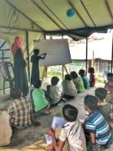 Rohingya Children at Safe Haven's Learning Zone