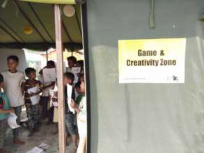 Rohingya Children at Safe Haven's Game Zone