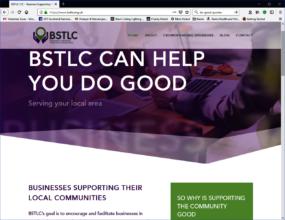 BSTLC website home page screenshot