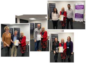 Four companies receive Charter Award certificates