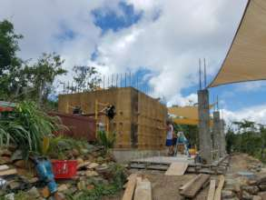 Working on a home in Coral Bay St. John