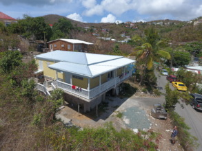 Recently completed home in Cruz Bay.