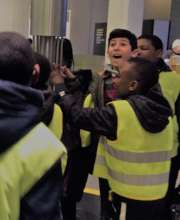 Refugee Children on a trip to the Science Museum