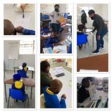Small groups back at school -  literacy classes