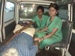 Mr. Narayanasamy being rescued - 2