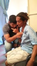 Dr. Tercero examining a patient in Ocotal.