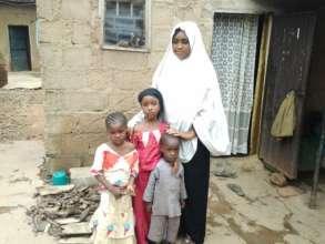 Widowed Aisha, and her children