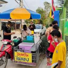 Providing employment through ice cream sales!
